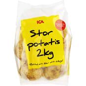 Stor tvättad potatis 2kg Klass 1 ICA