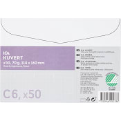 Kuvert Vit C6 50-p ICA Home