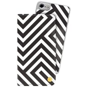 Plånboksväska iPhone 6/6s/7 Black on White Holdit