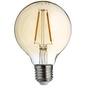 LED filament dekorationslampa G80 1,7W E27 100lm Guld ICA Home