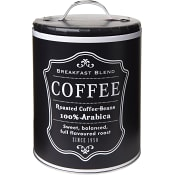 Plåtburk Kaffe Svart ICA