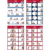 Juletiketter Flera olika motiv 30-p