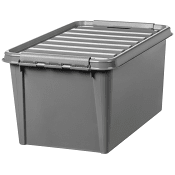 Förvaringsbox Classic Återvunnen plast Grå 45L Smartstore