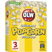 Micropopcorn Smör 80g 3-p Olw