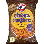 Ostbågar Cheez cruncherz Texas ranch 225g Olw