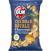 Chips Cheddar Royal & Sourcreme 275g OLW