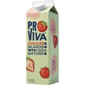 Fruktdryck Jordgubb 1l Proviva