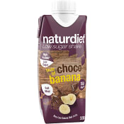 Shake Choklad & banan Viktkontroll 330ml Naturdiet