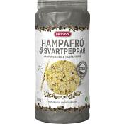Majskakor Hampafrö & svartpeppar 130g Friggs