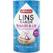 Linskakor Gräddfil & Lök Glutenfri 125g Friggs