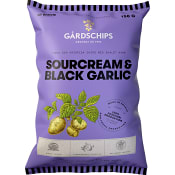 Chips Sourcream & black galic 150g Gårdschips