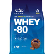 Proteinpulver Whey-80 Choklad 1kg Star Nutrition