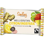 Energibar Citron ingefära 40g Smiling