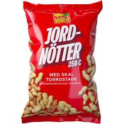 Jordnötter med skal Rostade 350g Exotic Snacks