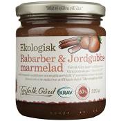 Rabarber och jordgubbsmarmelad 320g KRAV Torefolk Gård