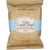 Chips Gräddfil & Lök 200g Svenska Lantchips