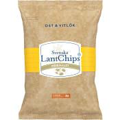 Chips Ost & vitlök 200g Lantchips