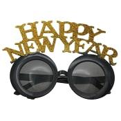 Glasögon Happy New Year Svart/Guld 1-p
