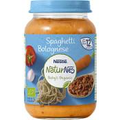 Barnmat Spaghetti Bolognese 1år Ekologisk 190g Nestle