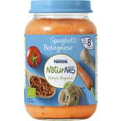 Spaghetti Bolognese 8m Ekologisk 190g Nestle
