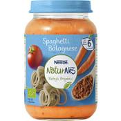 Barnmat Spaghetti Bolognese 6m Ekologisk 190g Nestle