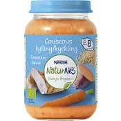 Barnmat Couscous Kyckling 8mån Ekologisk 190g Nestlé