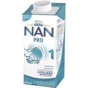 Bröstmjölksersättning NAN Pro1 0mån Drickfärdig 200ml Nestle