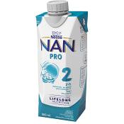 Bröstmjölksersättning NAN Pro2 6mån Drickfärdig 500ml Nestle