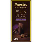 Chokladkaka Premium 70% kakao Saltlakrits 100g Marabou