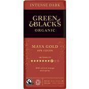 Mörk Chokladkaka Apelsin och Kryddaromer Ekologisk 60% 90g Green & Black's
