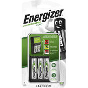 Batteriladdare AA-AAA Maxi Inklusive 4st batterier Energizer