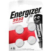 Batteri/knappcell litium 3V CR2032 4-p Energizer