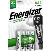 Batteri ECO Laddbara LR03 AAA 4-p Energizer