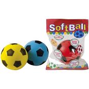 Mjukisfotboll 20cm 3 olika färger
