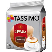 Kaffekapslar, Gevalia 8-p, Cappuccino Tassimo