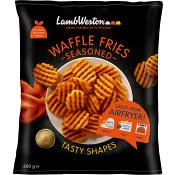 Pommes frites Waffle fries Kryddad Fryst 600g Lamb weston