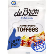 Fruitjuice Toffees Sockerfri 90g De Bron