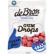 Gumdrops Rasberry Glutenfri 100g De Bron