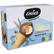 Sojaglass Vanilj och jordgubb Vegansk 4-p Choice