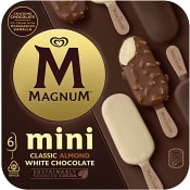 Glass Mini Classic Almond & White 6-p Magnum