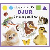 Jag leker och lär: djur. Bok med pusselbitar